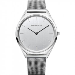 Reloj Ultra Slim Unisex Plateado