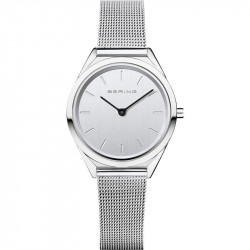 Reloj Ultra Slim Mujer Plateado